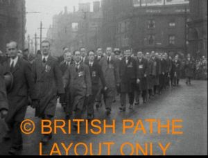 Armistice Parade in Manchester 1926.  Courtesy British Pathe.