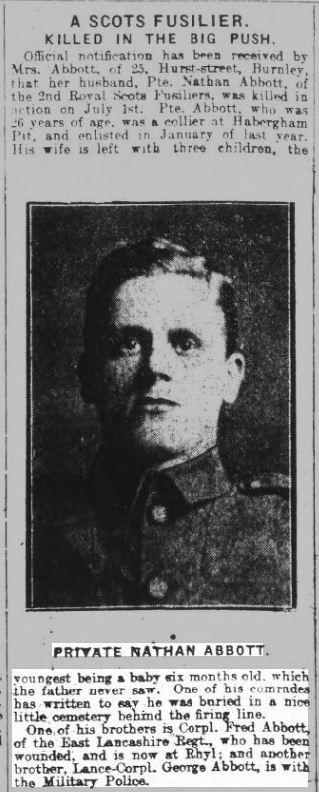 Abbott Burnley Express 12.8.1916